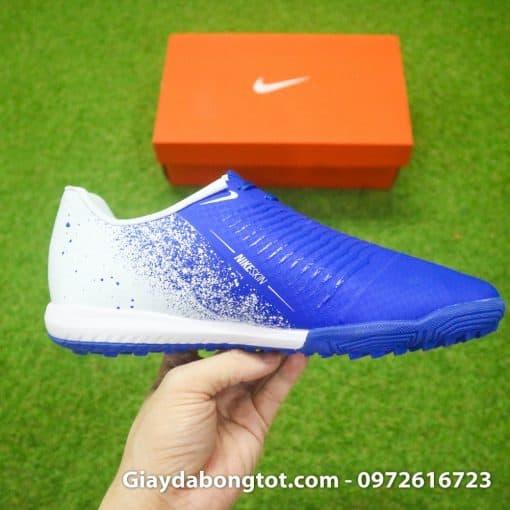 Giay da bong em chan Nike Phantom VNM TF xanh duong trang (11)
