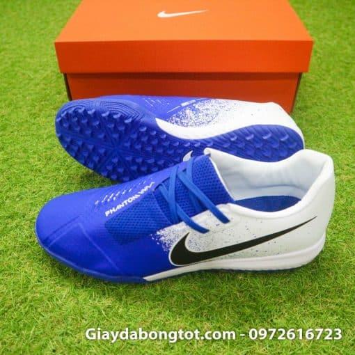 Giay da bong em chan Nike Phantom VNM TF xanh duong trang (3)