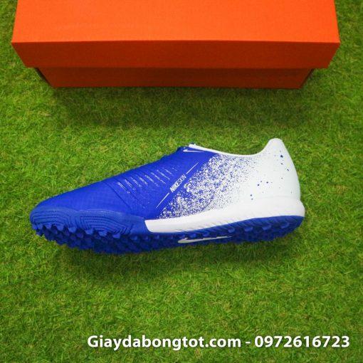 Giay da bong em chan Nike Phantom VNM TF xanh duong trang (4)