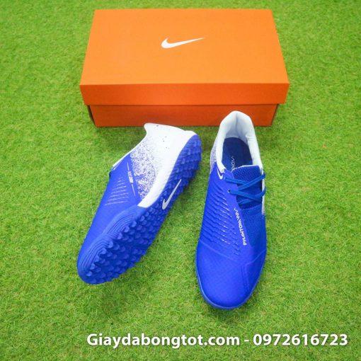 Giay da bong em chan Nike Phantom VNM TF xanh duong trang (6)