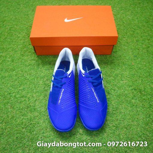Giày đá bóng Nike Phantom VNM TF Xanh Dương trắng đế êm chân