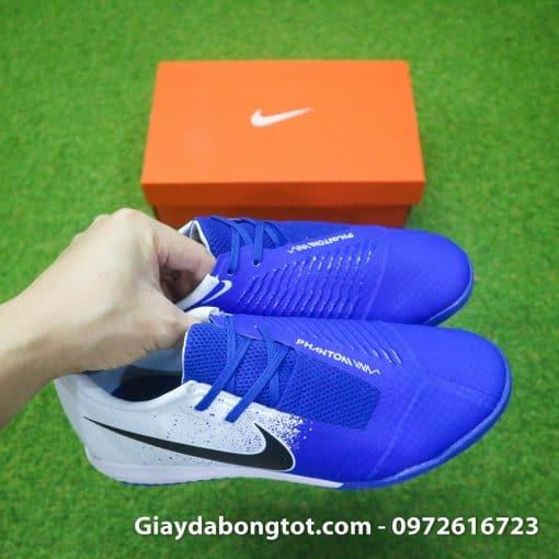 Giay da bong em chan Nike Phantom VNM TF xanh duong trang (8)