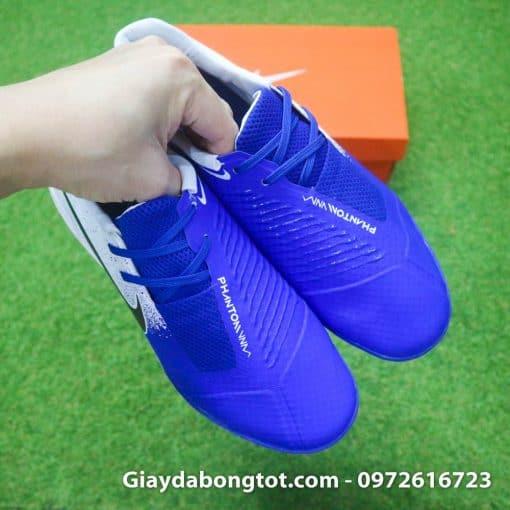 Giay da bong em chan Nike Phantom VNM TF xanh duong trang (9)