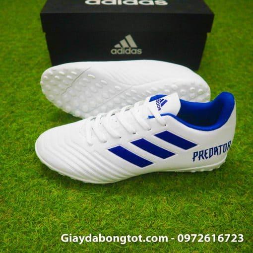 Giày đá bóng sân cỏ nhân tạo màu trắng Adidas Predator 19.4 có form giày thon gọn đơn giản