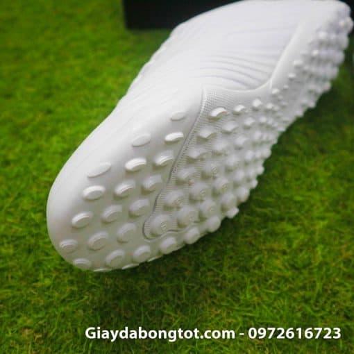 Giay da bong mau trang Adidas Predator 19.4 TF vach xanh (5)