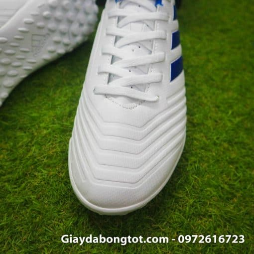 Giay da bong mau trang Adidas Predator 19.4 TF vach xanh (6)