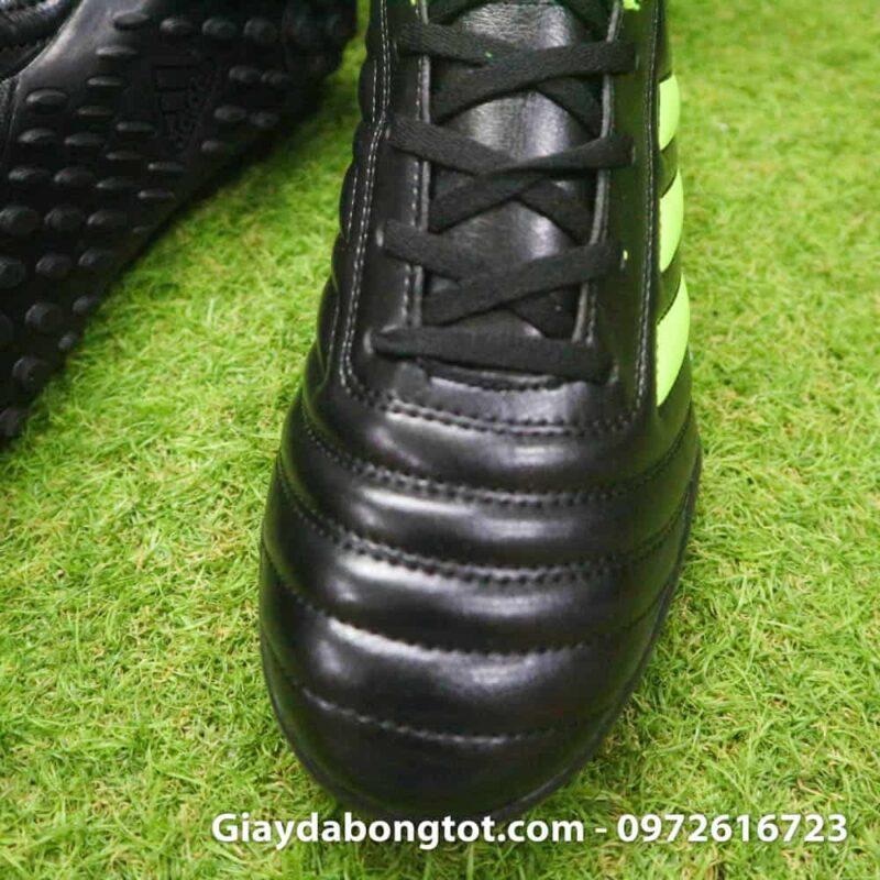 Giay da bong sieu nhe Adidas Copa 19.4 TF san co nhan tao mau den vach xanh (6)