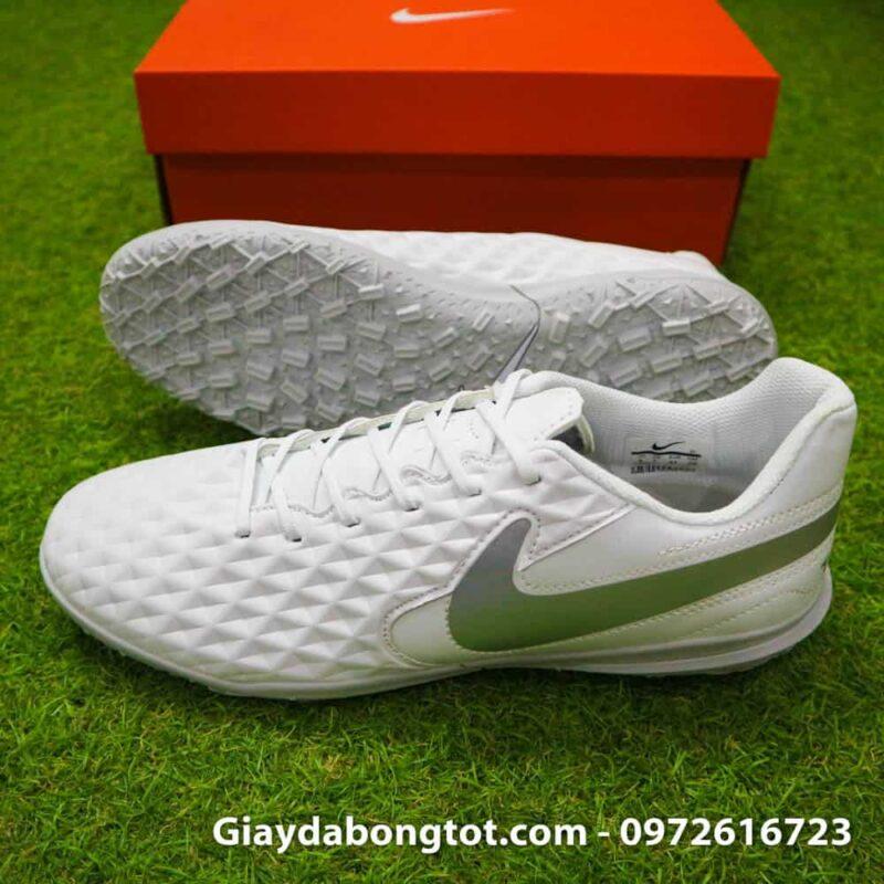 Giay bong da chan be Nike Tiempo 8 TF mau trang toan than (2)