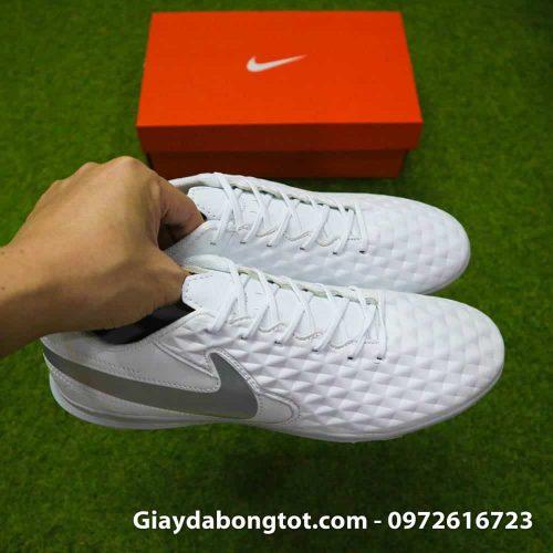 Giay bong da chan be Nike Tiempo 8 TF mau trang toan than (5)