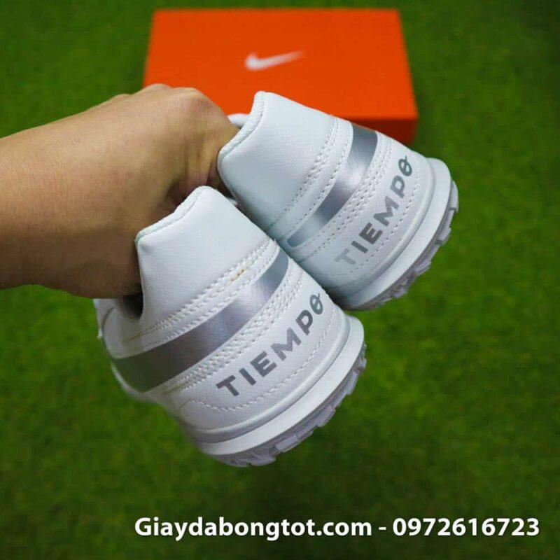 Giay bong da chan be Nike Tiempo 8 TF mau trang toan than (7)