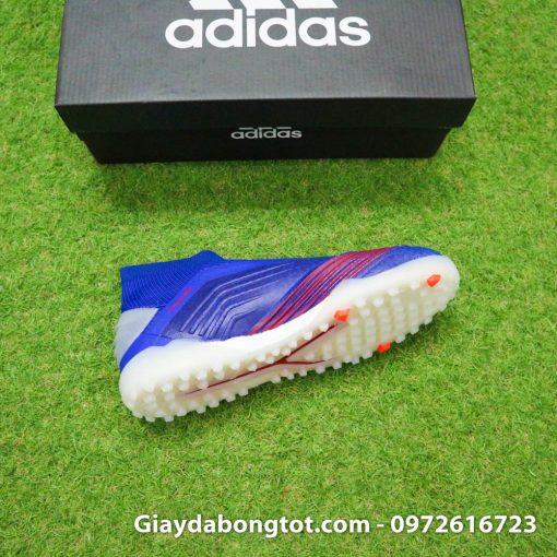 Giay bong da khong day Adidas Predator 19+ TF xanh duong vach bac 2019 em chan (13)