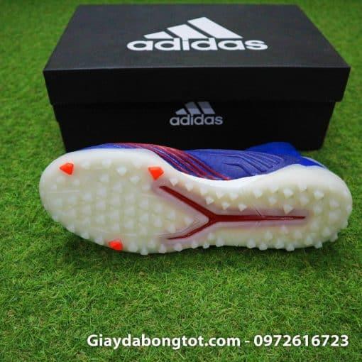 Giay bong da khong day Adidas Predator 19+ TF xanh duong vach bac 2019 em chan (4)