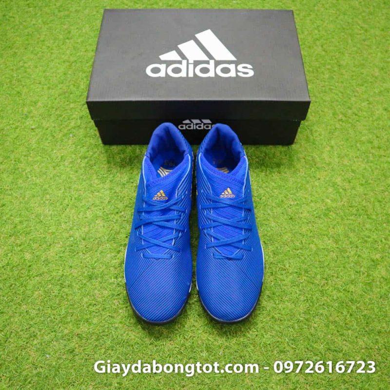 Giay da banh Adidas Nemeziz 19.3 mau xanh duong vach trang moi nhat (12)