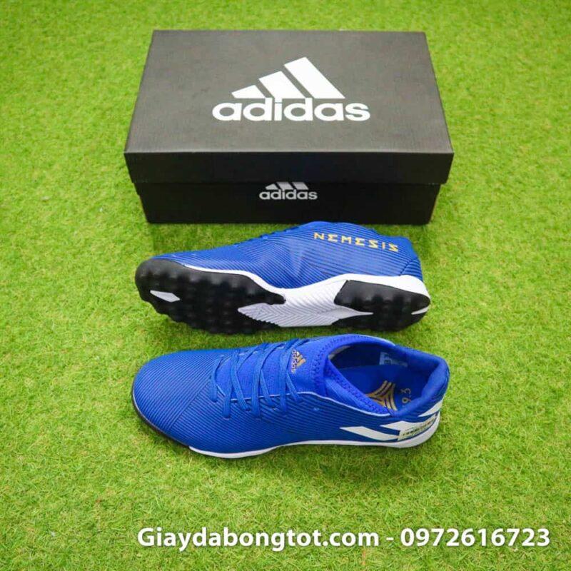 Giay da banh Adidas Nemeziz 19.3 mau xanh duong vach trang moi nhat (2)