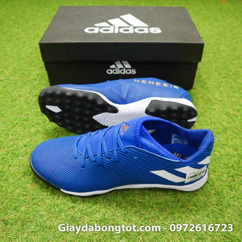 Giay da banh Adidas Nemeziz 19.3 mau xanh duong vach trang moi nhat (3)