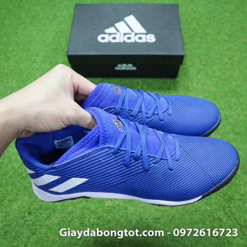 Giay da banh Adidas Nemeziz 19.3 mau xanh duong vach trang moi nhat (6)