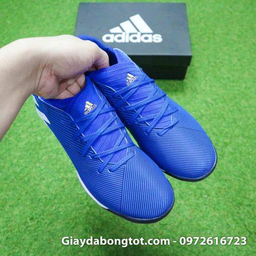 Giay da banh Adidas Nemeziz 19.3 mau xanh duong vach trang moi nhat (7)