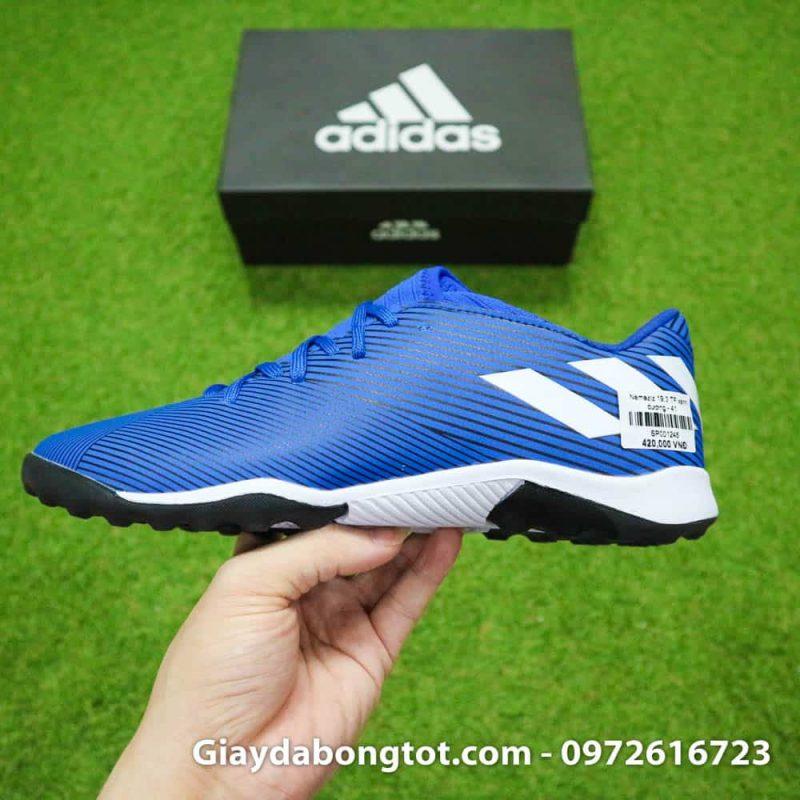 Giày đá banh Adidas Nemeziz 19.3 TF màu xanh dương với form giày thon gọn đẹp mắt