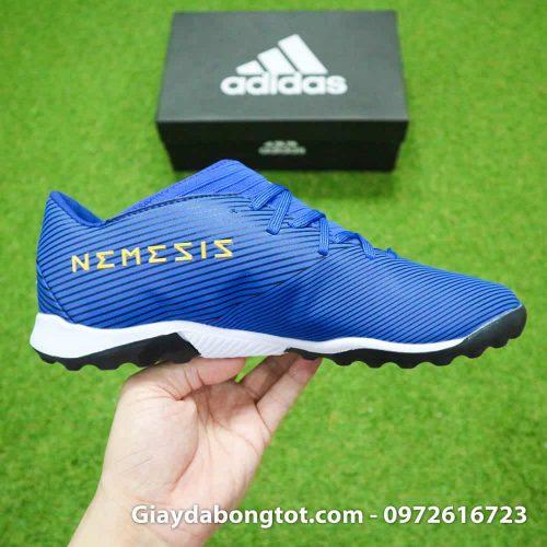Giay da banh Adidas Nemeziz 19.3 mau xanh duong vach trang moi nhat (9)