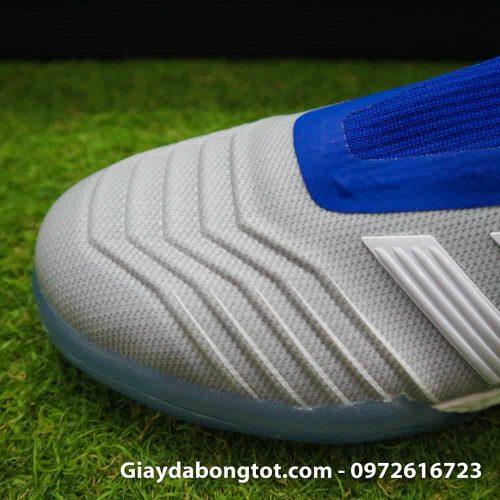 Giay da banh khong day Adidas Predator 19+ TF xam co xanh 2019 (1)