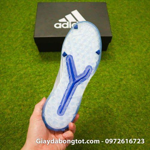 Giay da banh khong day Adidas Predator 19+ TF xam co xanh 2019 (14)