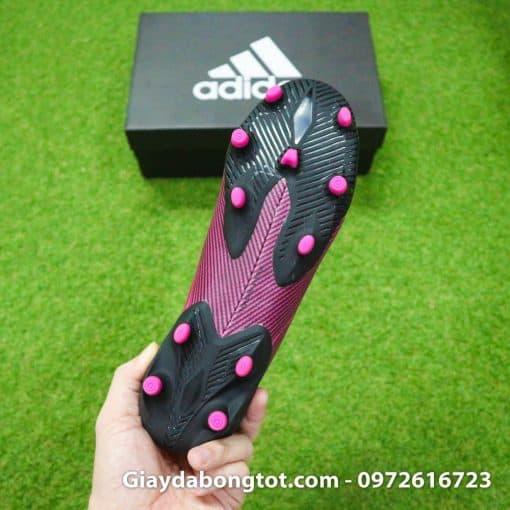 Thiết kế đế giày đinh cao FG khác biệt của giày Adidas Nemeziz 19.1 FG màu hồng đen mới 2019