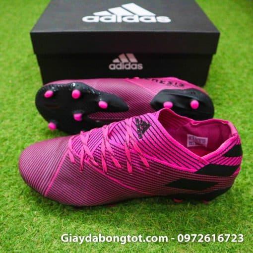 Giày đá bóng Adidas Nemeziz 19.1 FG màu hồng được làm bằng da vải êm mềm và thoải mái