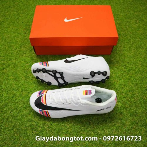 Giay da bong Nike Mercurial CR7 AG mau trang Level Up 2019 (2)