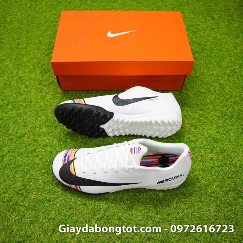 Giay da bong Nike Mercurial Vapor 12 TF mau trang Level up 2019 (1)