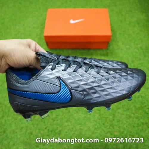 Giay da bong Nike Tiempo Legend 8 FG mau den da mem (9)