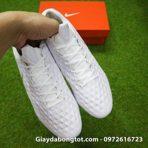 Giay da bong Nike Tiempo Legend VIII FG mau trang superfake (9)