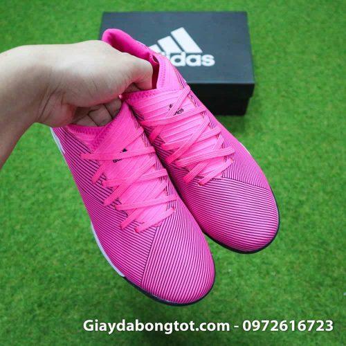 Giay da bong mau hong Adidas Nemeziz 19.3 TF hong vach trang 2019 (7)