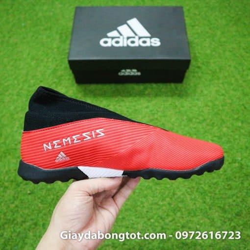 Giay bong da khong day Adidas Nemeziz 19.3 TF mau do 2019 (1)
