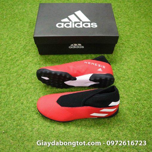Giay bong da khong day Adidas Nemeziz 19.3 TF mau do 2019 (2)