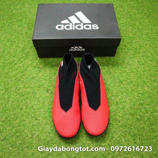 Giay bong da khong day Adidas Nemeziz 19.3 TF mau do 2019 (8)