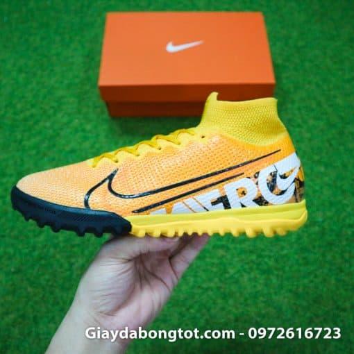 Giay da banh Nike cao co Superfly 7 TF vang cam 2019 (10)