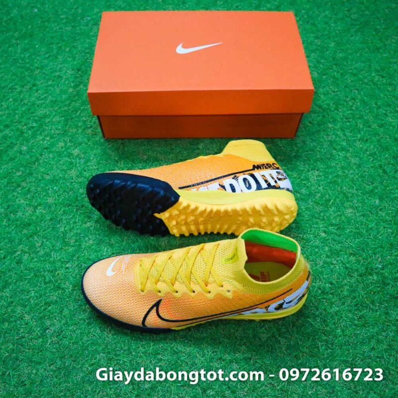 Giay da banh Nike cao co Superfly 7 TF vang cam 2019 (2)