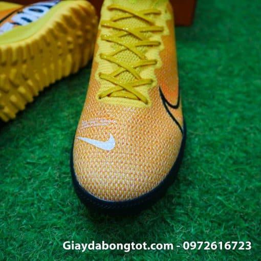 Giay da banh Nike cao co Superfly 7 TF vang cam 2019 (6)