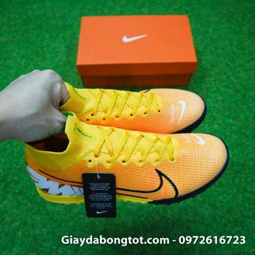 Giay da banh Nike cao co Superfly 7 TF vang cam 2019 (8)