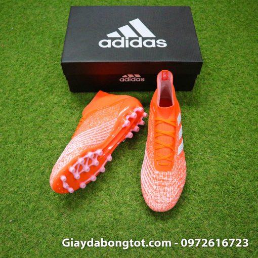 Giày đá banh Adidas Predator 19.1 AG màu cam với form giày đẹp mắt