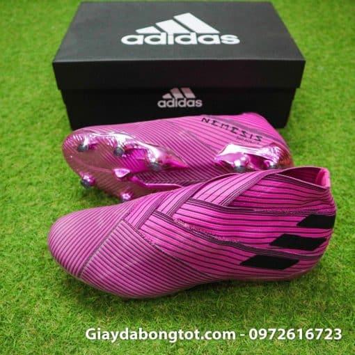 Giày không dây Adidas Nemeziz 19+ FG màu hồng cực kỳ độc đáo và đẹp mắt