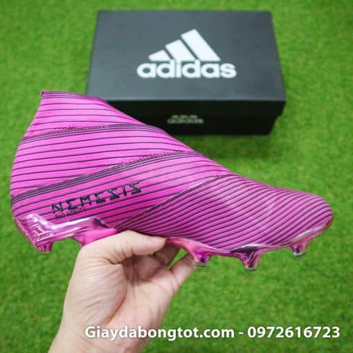 Giay da banh khong day Adidas Nemeziz 19+ FG hong khong day 2019 (8)