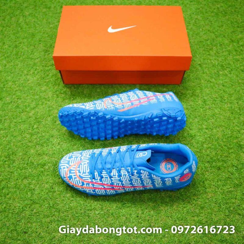 Giay da bong CR7 Nike Mercurial Vapor 13 Shuai mau xanh duong 2019 (2)