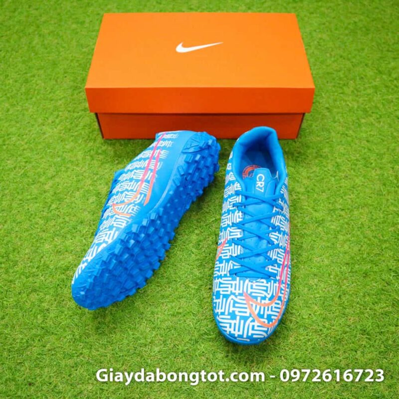 Giay da bong CR7 Nike Mercurial Vapor 13 Shuai mau xanh duong 2019 (5)
