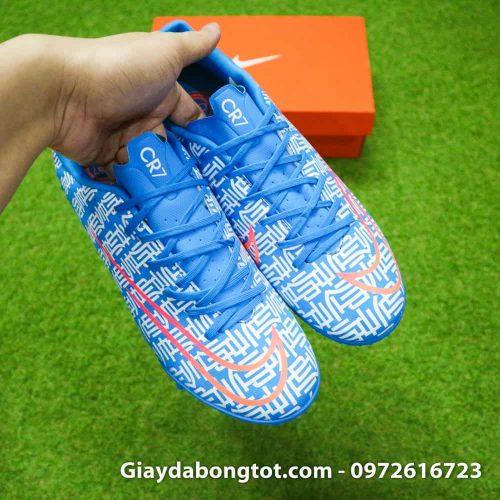 Giay da bong CR7 Nike Mercurial Vapor 13 Shuai mau xanh duong 2019 (8)