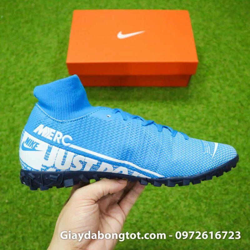 Giay da bong Nike Mercurial Superfly 7 Academy TF xanh duong 2019 (12)