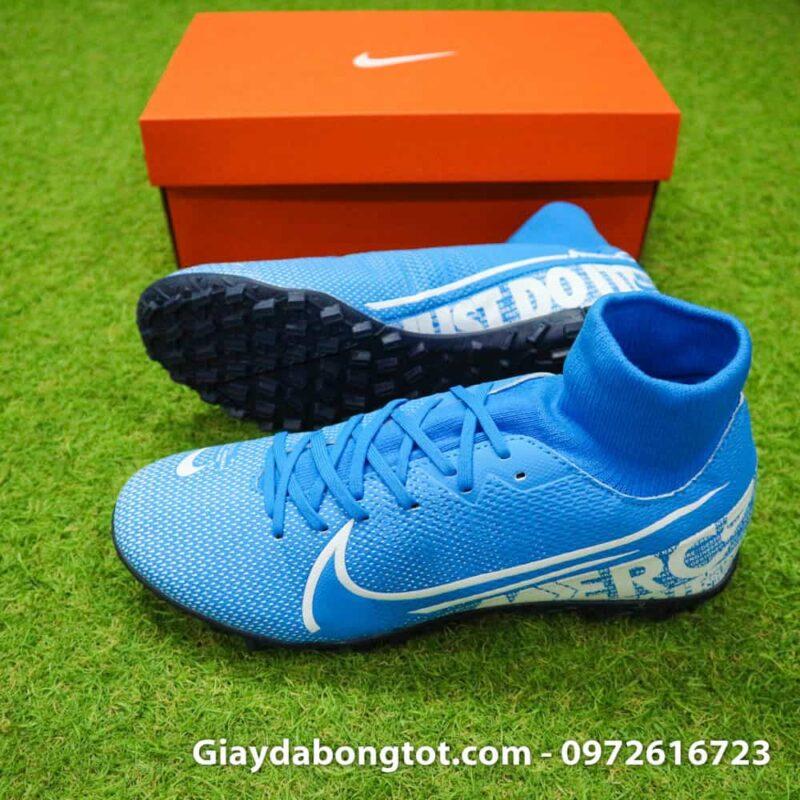 Giay da bong Nike Mercurial Superfly 7 Academy TF xanh duong 2019 (3)