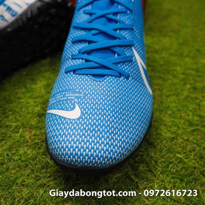 Giay da bong Nike Mercurial Superfly 7 Academy TF xanh duong 2019 (7)