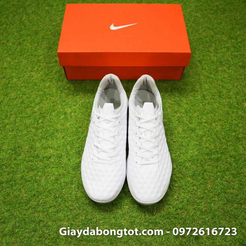 Giày sân cỏ nhân tạo Nike Tiempo X 8 Pro TF trắng phù hợp với cả bàn chân bè mập