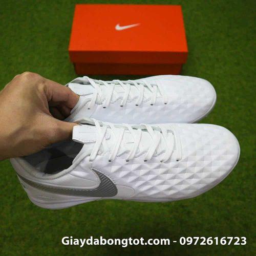 Giay da bong Nike Tiempo X 8 Pro TF trang white out da mem sieu nhe (6)